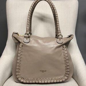 Cavalcabti Bone Leather Italian Satchel Bag